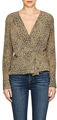 Rag & Bone Women's Leopard-Print Silk Blouse