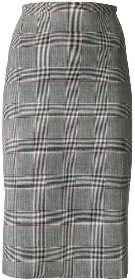 Le Petite Robe Di Chiara Boni check pencil skirt