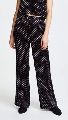 Jenni Kayne Dot Charmeuse Wide Leg Pants