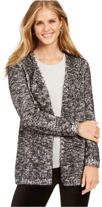 Style&Co. Style & Co Marled Eyelash-Knit Cardigan