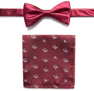 Apt. 9 Men's Pre-Tied Bow Tie and Pocket Square Set