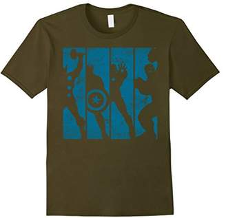 Marvel The Avengers Assemble Into Panel Silhouettes T-Shirt