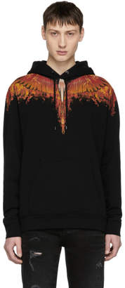 Marcelo Burlon County of Milan Black Flame Wing Hoodie