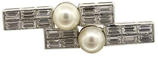 Van Cleef & ArpelsVan Cleef & Arpels Platinum 5.04ct Diamond Pearl Pin Brooch