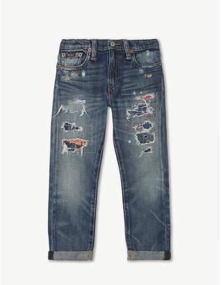 Ralph Lauren Ripped detail slim denim jeans 5-7 years
