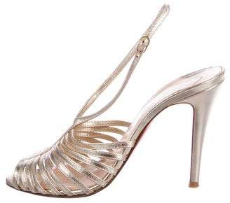 Christian Louboutin Metallic Leather Sandals