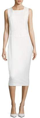 Narciso Rodriguez Sleeveless Seamed Sheath Wool Dress