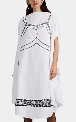 MM6 MAISON MARGIELA Women's Trompe L'Oeil Cotton Midi-Dress - White