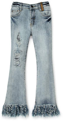 Truly Me Girls 7-16) Distressed Bell Bottom Jeans