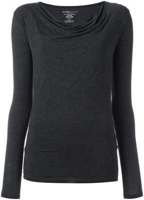 Majestic Filatures asymmetric shoulder blouse