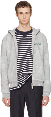 DSQUARED2 Grey Destroyed Hiking Mountain Hoodie