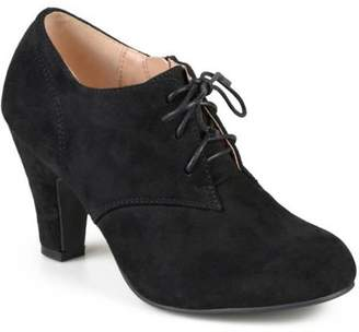 Co Brinley Women's Vintage Round Toe High Heel Lace-up Faux Suede Booties