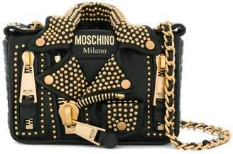 Moschino small biker shoulder bag
