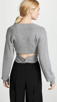 Alexander Wang Twist Back Cropped Sweater
