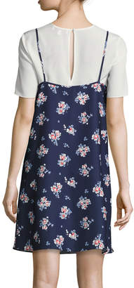 LIKELY Kinney Scattered Garden Dress, Blue Pattern