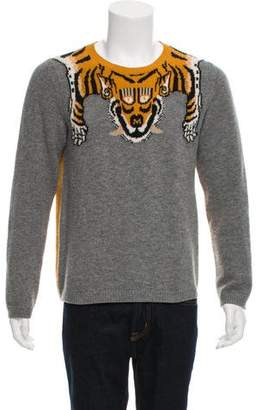 Gucci 2017 Tiger Wool Intarsia Sweater