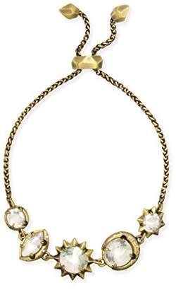 Kendra Scott Jodie Bracelet in Antique Brass Iridescent Glass and Cubic Zirconia