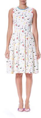 Carolina Herrera Sleeveless Terazzo Tile-Print Dress