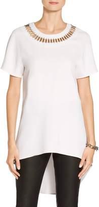 St. John Classic Stretch Cady Dolman Short Sleeve Top