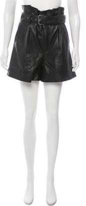 Walter Baker Velda Leather Shorts