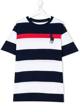 Ralph Lauren striped logo T-shirt