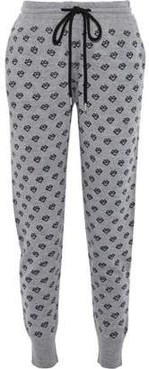 Markus Lupfer Printed Merino Wool Track Pants