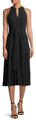 Rachel Roy Claudette Tie-Front Midi Dress