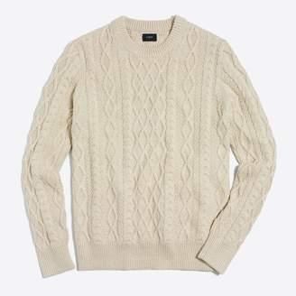 J.Crew Factory Fisherman cable crewneck sweater