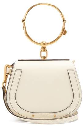 Chloé Nile Small Leather And Suede Cross Body Bag - Womens - White