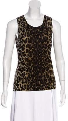 Lafayette 148 Sleeveless Leopard Top