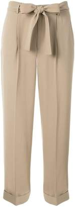 KNOTT cropped belted trousers