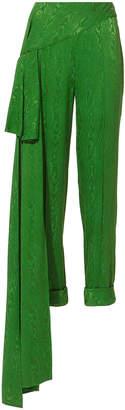 Hellessy Romeo Side Drape Green Cigarette Pants