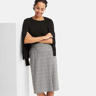 Uniqlo Women's Checked High-waist Narrow Skirt