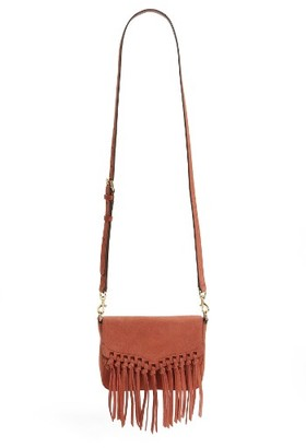 Rebecca Minkoff Small Rapture Suede Shoulder Bag - Red $195 thestylecure.com