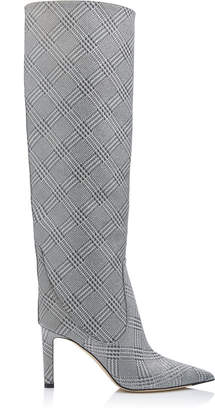 Jimmy Choo Mavis Glittered Plaid Over-The-Knee Boots