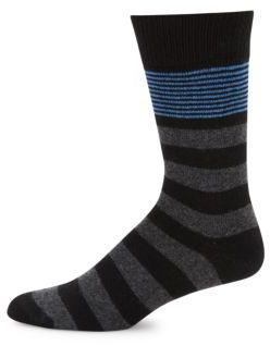 Cashmere-Blend Striped Socks $30 thestylecure.com