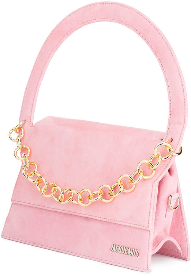 Jacquemus Le Petit Rond Small Bag With Gold Chain