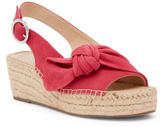 Franco Sarto Pixie Suede Slingback Wedge Sandal - Wide Width Available