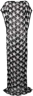 Givenchy star print sheer dress