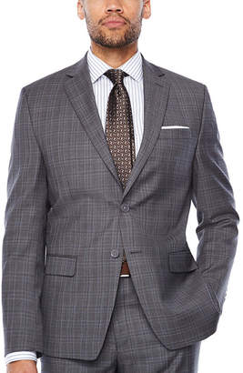 COLLECTION Collection By Michael Strahan Dark Gray Glen Plaid Suit Jacket Classic Fit