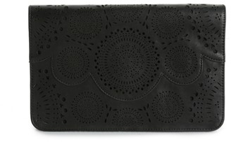 Violet Ray Scallop Clutch
