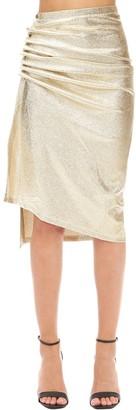 Paco Rabanne Asymmetric Stretch Jersey Lurex Skirt