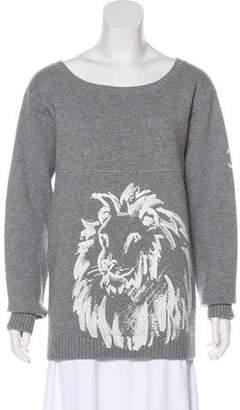 Chanel Cashmere Lion's Head Sweater