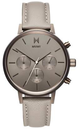 MVMT Nova Chronograph Leather Strap Watch, 38mm