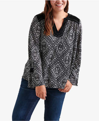 Lucky Brand Plus Size Printed Top