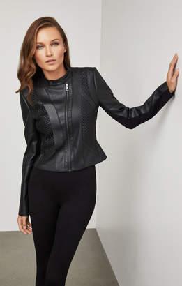 BCBGMAXAZRIA Misa Faux-Leather Moto Jacket