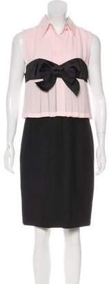 Chanel Wool & Silk Knee-Length Dress