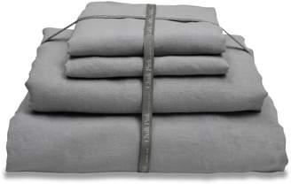 Chalk Pink Linen Company - Tumbled Grey Linen Bedding Set