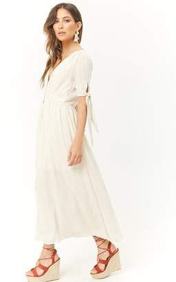 Forever 21 Woven Button-Front Maxi Dress