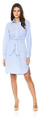 Max Studio Women's Long Sleeve Cotton Shirt Dress